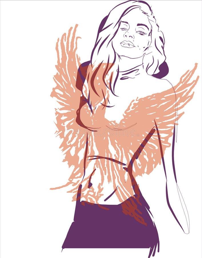 Het meisje van Phoenix royalty-vrije illustratie