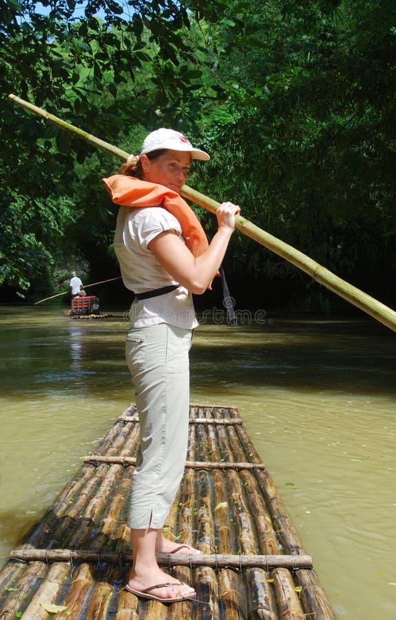 Het Meisje van Rafting stock afbeelding