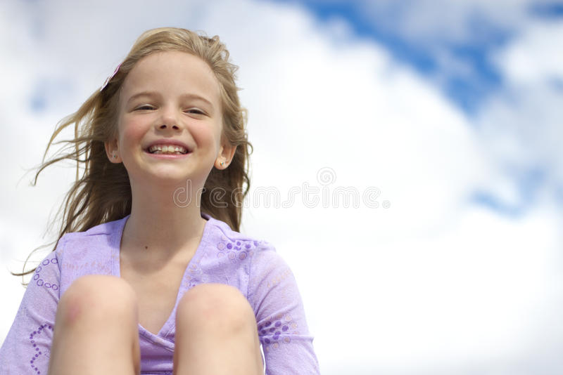 Het meisje van Smiley stock afbeeldingen
