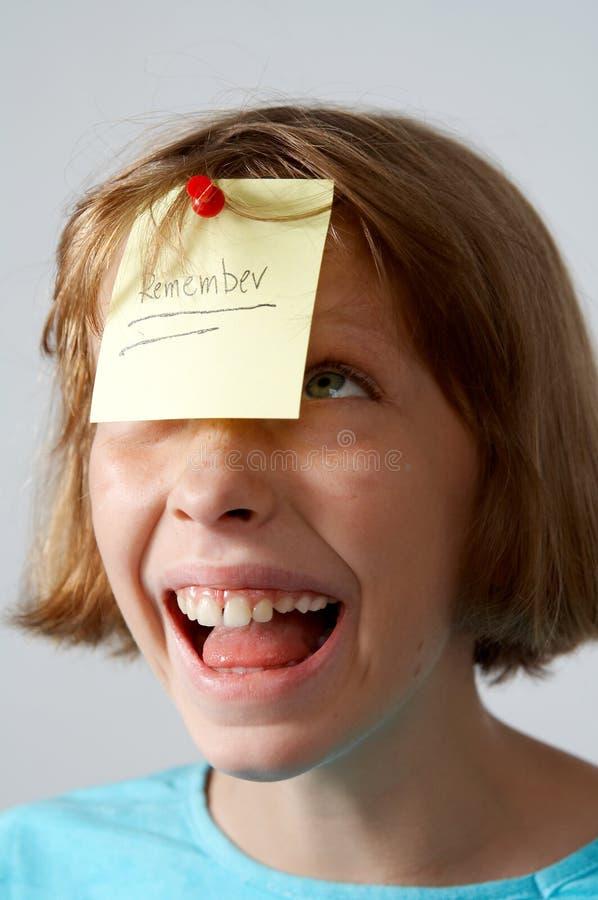 Het meisje van stickers stock foto