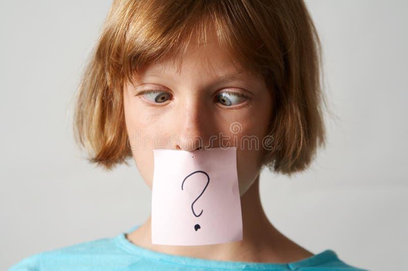 Het meisje van stickers stock foto's