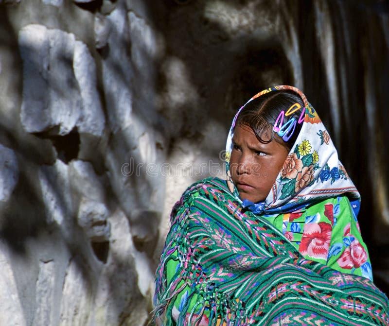 Het Meisje van Tarahumara royalty-vrije stock afbeelding