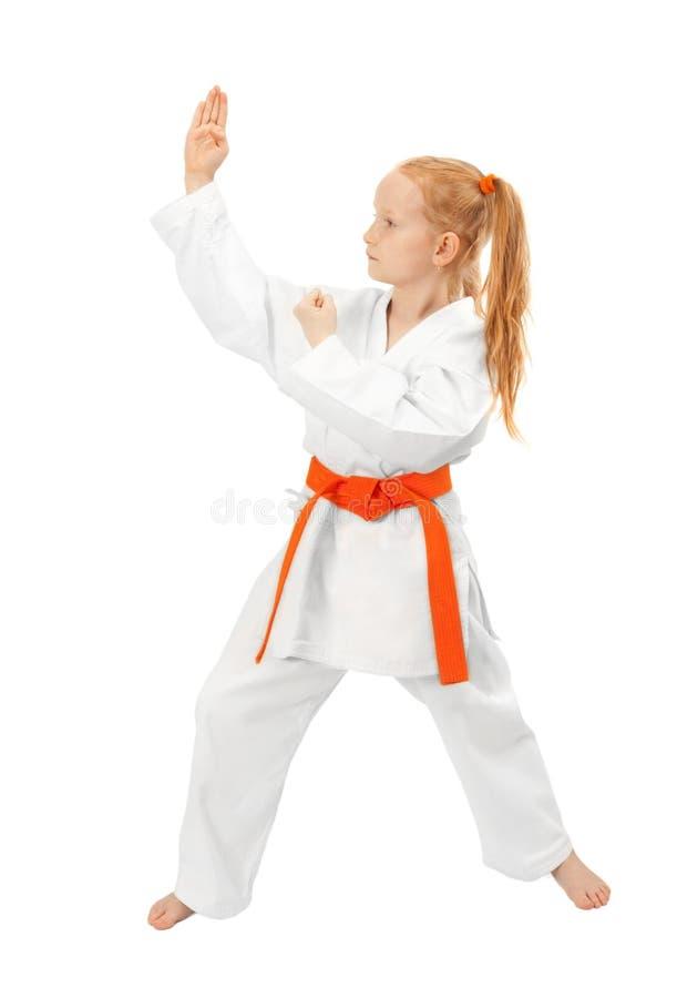 Het meisje van vechtsporten royalty-vrije stock fotografie