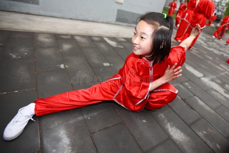 Het meisje van vechtsporten royalty-vrije stock foto
