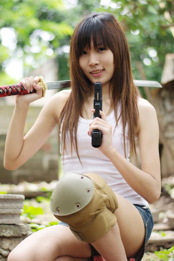 Het meisje van Yakuza stock afbeelding