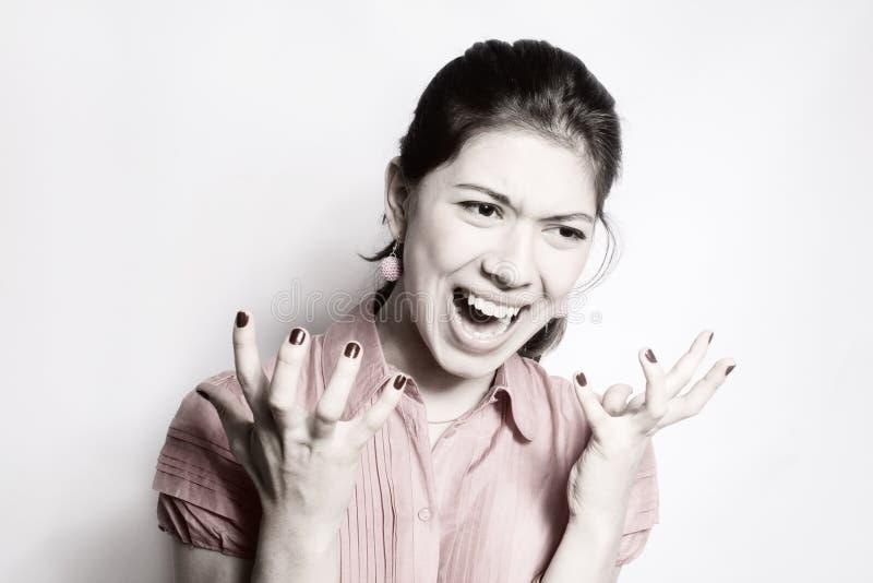 Het meisje in woede. royalty-vrije stock fotografie