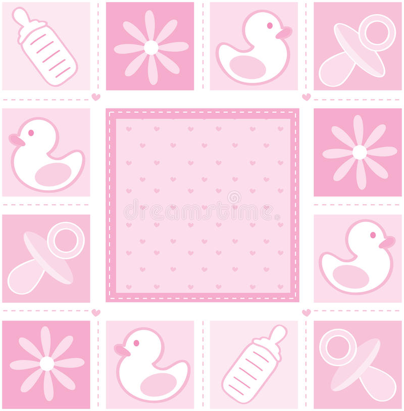 Het meisjesachtergrond van de baby stock illustratie