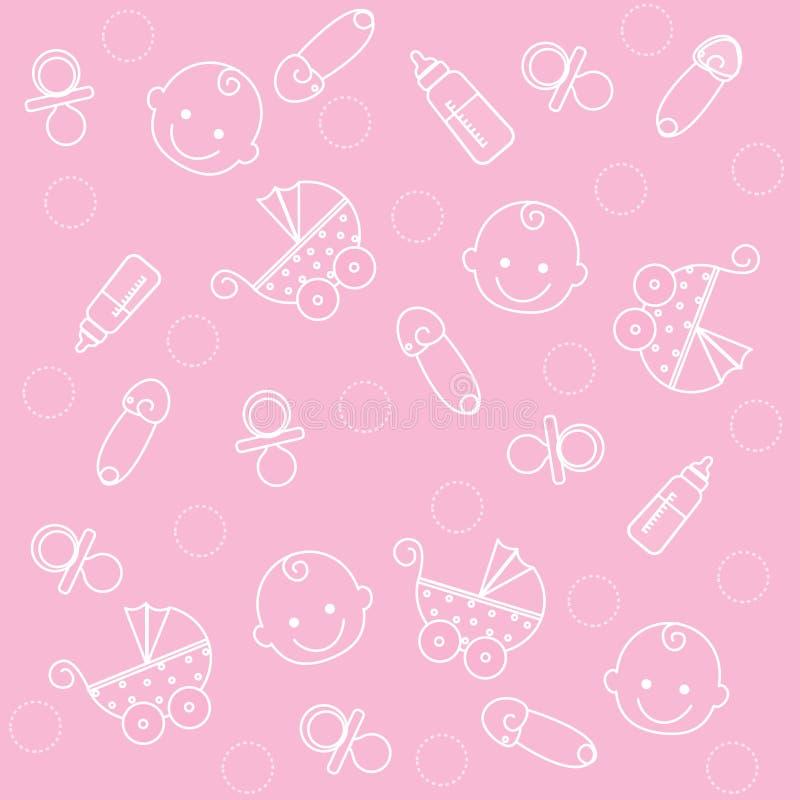 Het meisjesachtergrond van de baby royalty-vrije illustratie