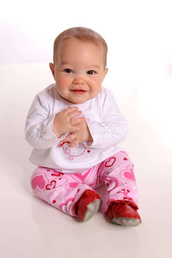 Het meisjesportret van de baby stock foto's