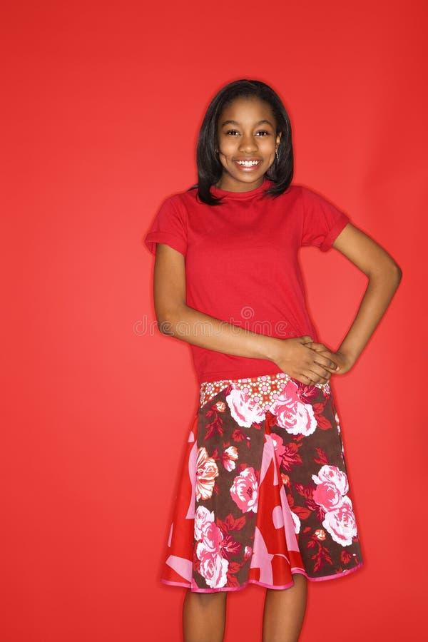 Het meisjesportret van de tiener. stock foto's