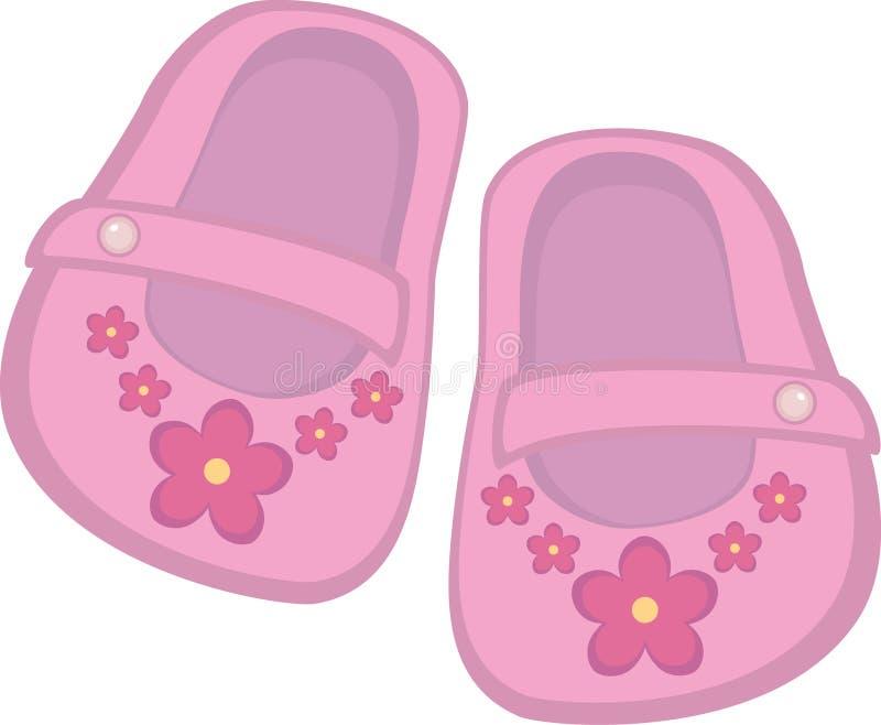 Het meisjesschoenen van de baby stock illustratie