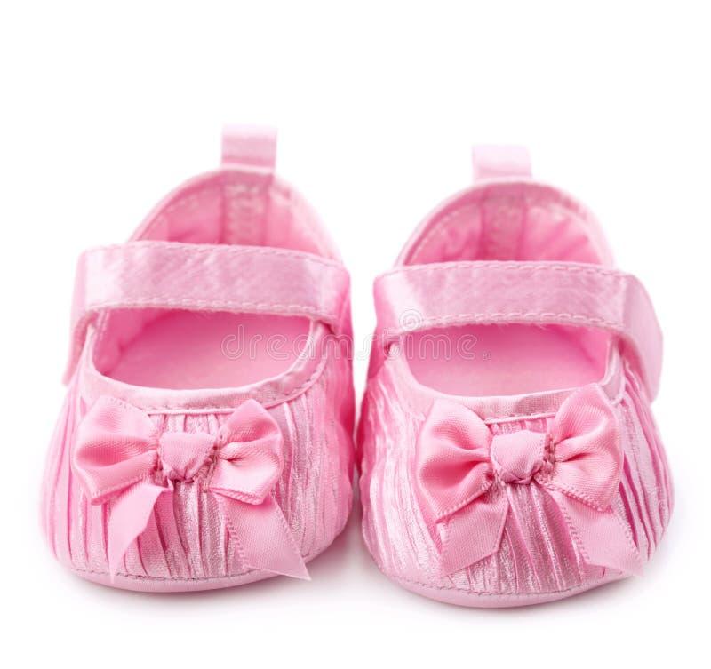 Het meisjesschoenen van de baby stock foto's