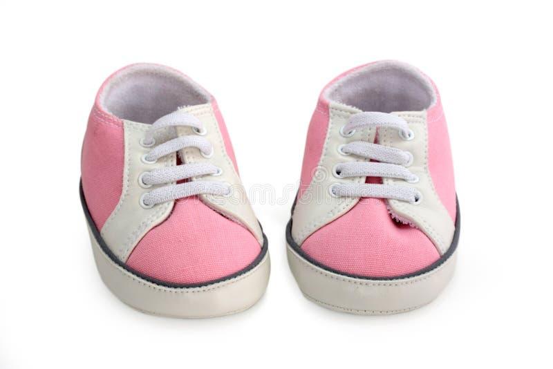 Het meisjesschoenen van de baby royalty-vrije stock foto