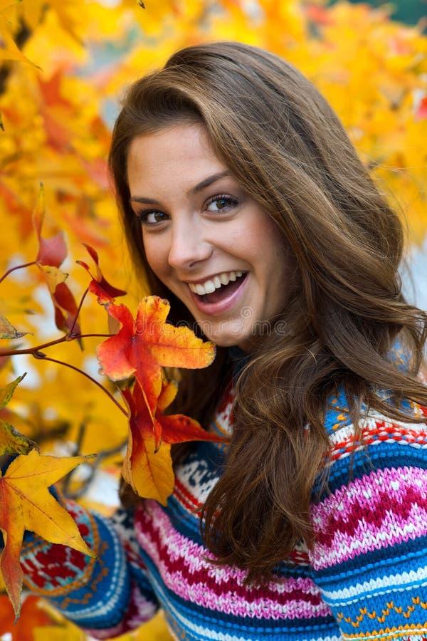 Het meisjesuitdrukking van de tiener stock fotografie