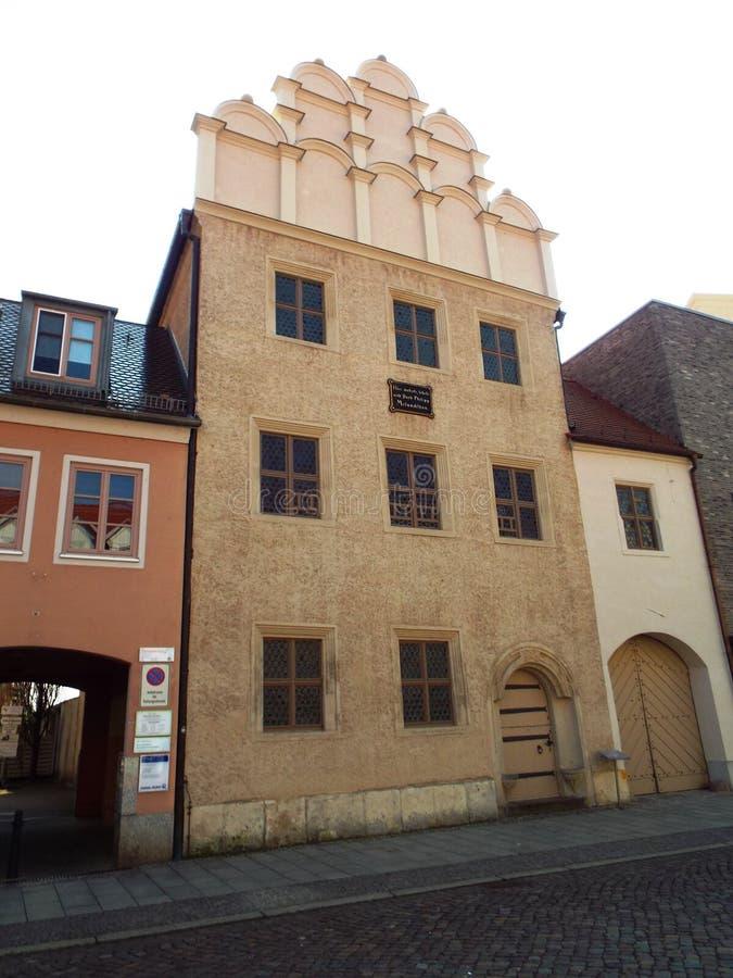 Het Melanchthonhuis, leefde hier, onderwezen en stierf Philipp Melanchthon, Wittenberg, Duitsland 04 12 2016 royalty-vrije stock afbeeldingen