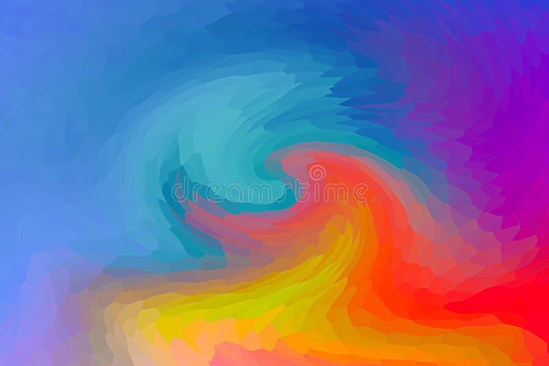 Het mengen van helder van de achtergrond kleuren blauw donker licht gradiënt oranjegeel rood violet kleurrijk basismozaïek royalty-vrije illustratie