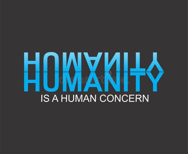 Het mensdom is menselijke zorg stock illustratie