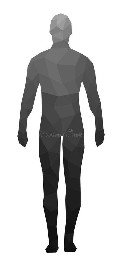 Het menselijke cijfer, gezichten, meetkunde, vector vector illustratie