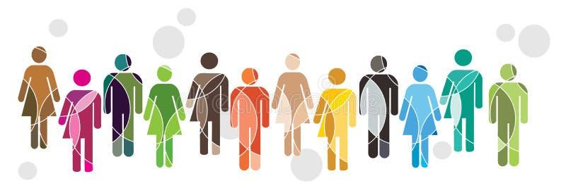 Het menselijke concept van de Diversiteit stock illustratie