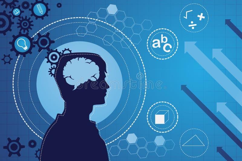 Het menselijke concept van de hersenenfunctie vector illustratie