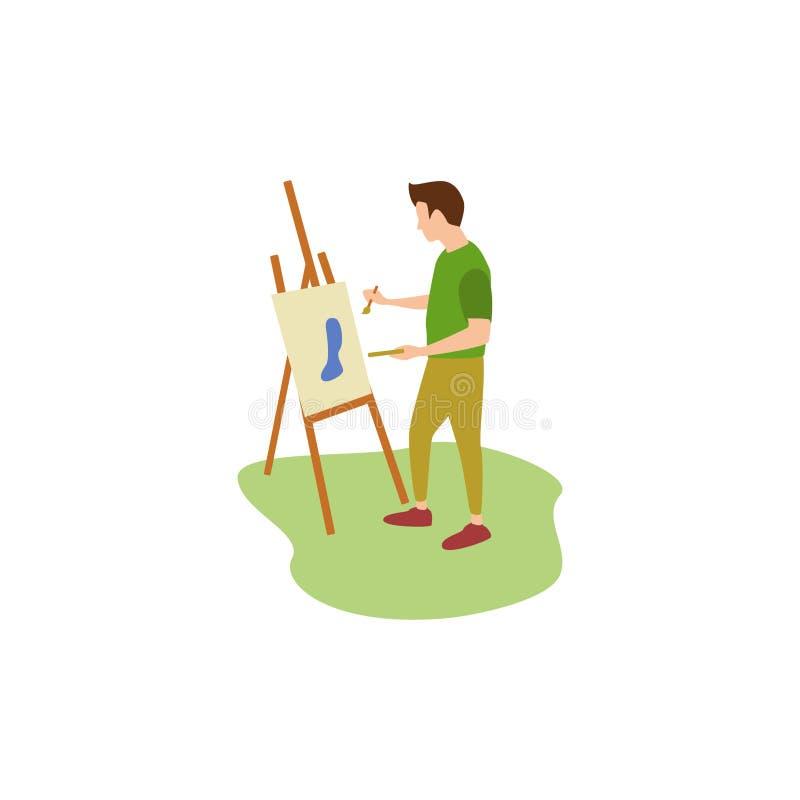 Het menselijke Hobbys Schilderen royalty-vrije illustratie