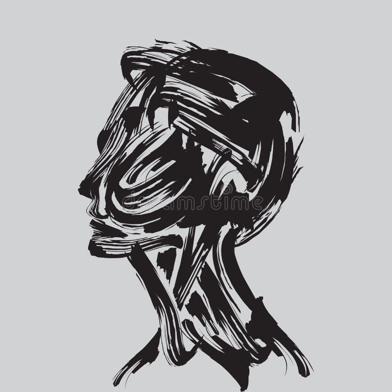 Het menselijke hoofd denken. vector illustratie