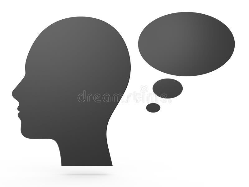 Het menselijke Hoofd Denken vector illustratie