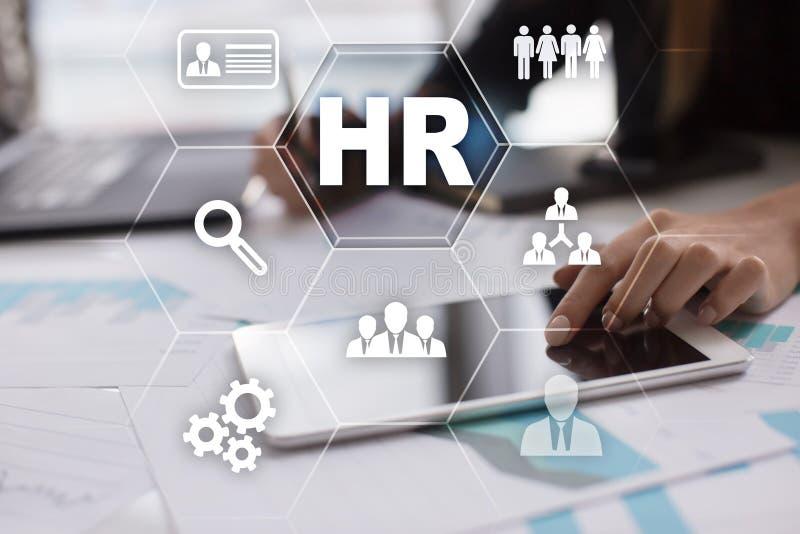 Het menselijke middelbeheer, u, rekrutering en teambuilding Bedrijfs concept stock afbeeldingen