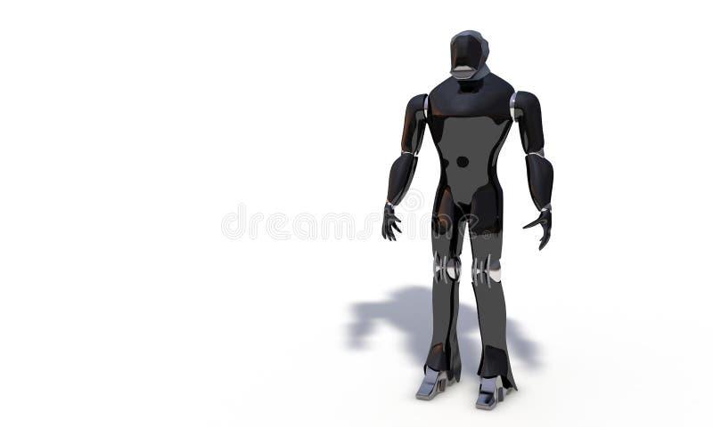 Het menselijke model op wit, 3d geeft terug stock illustratie