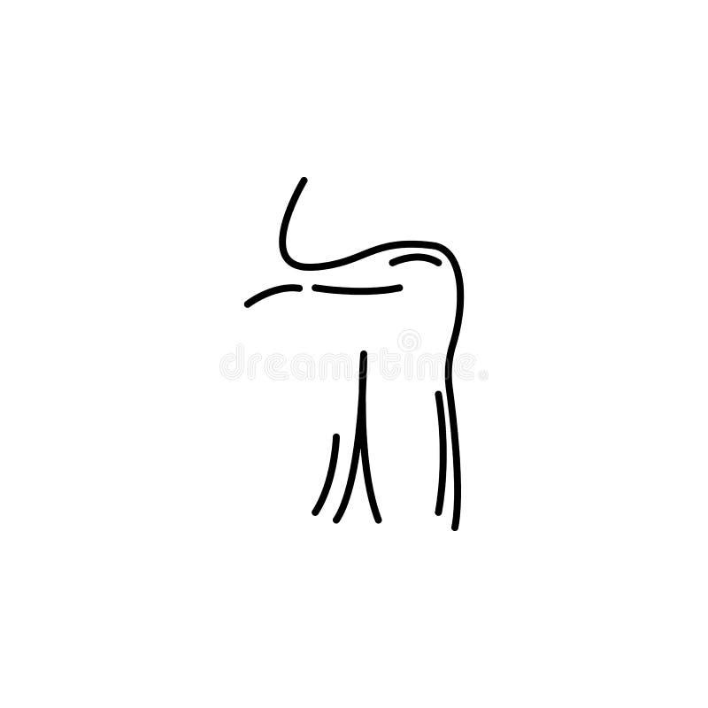 Het menselijke pictogram van het de schouderoverzicht van orgaanmensen De tekens en de symbolen kunnen voor Web, embleem, mobiele royalty-vrije illustratie