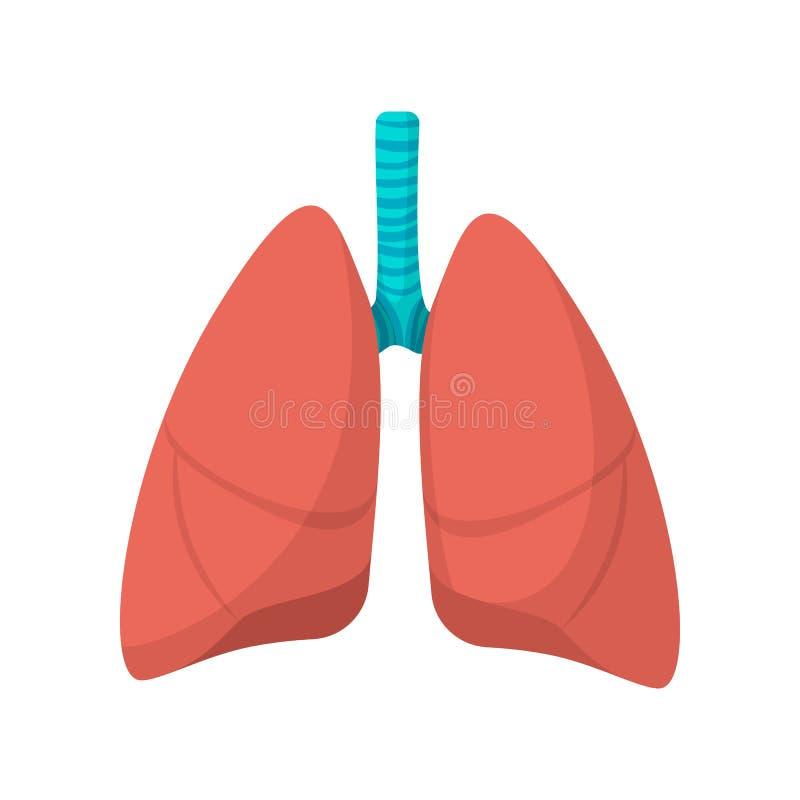Het menselijke pictogram van het longenbeeldverhaal stock illustratie