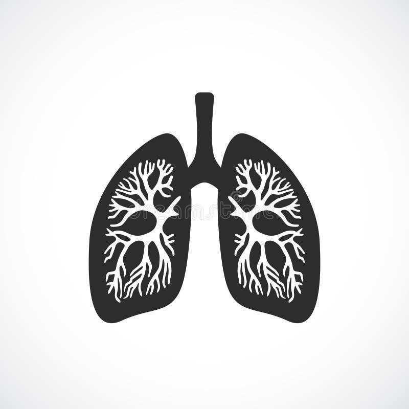 Het menselijke vectorpictogram van de longenanatomie royalty-vrije illustratie