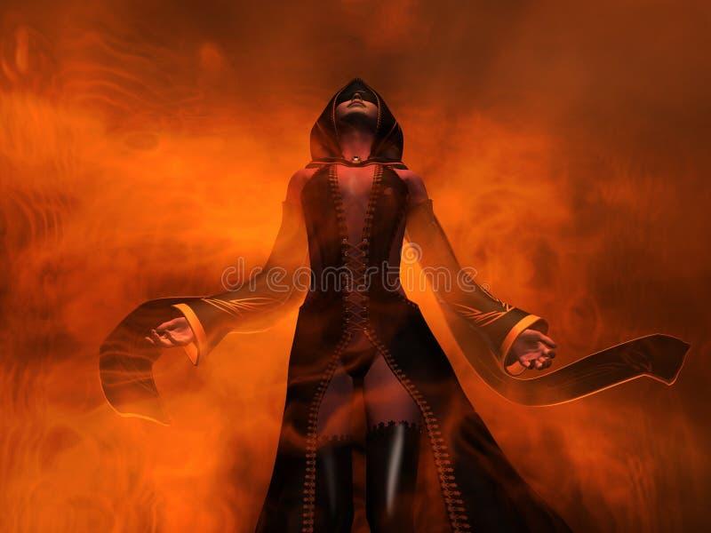 Het menselijke wijfje van de tovenaar stock illustratie