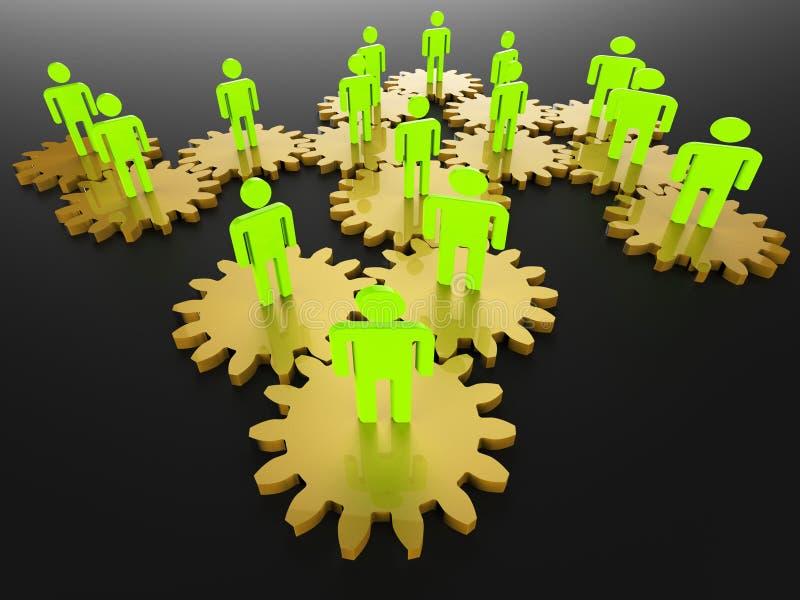 Het mensennetwerk toont Serversamenhorigheid en PC stock illustratie