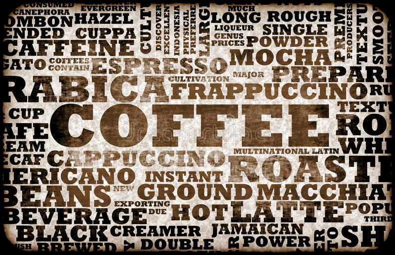 Het Menu van de koffie vector illustratie
