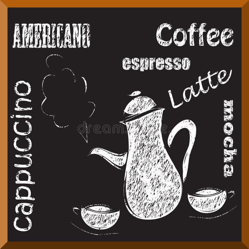 Het menu van de koffie royalty-vrije illustratie