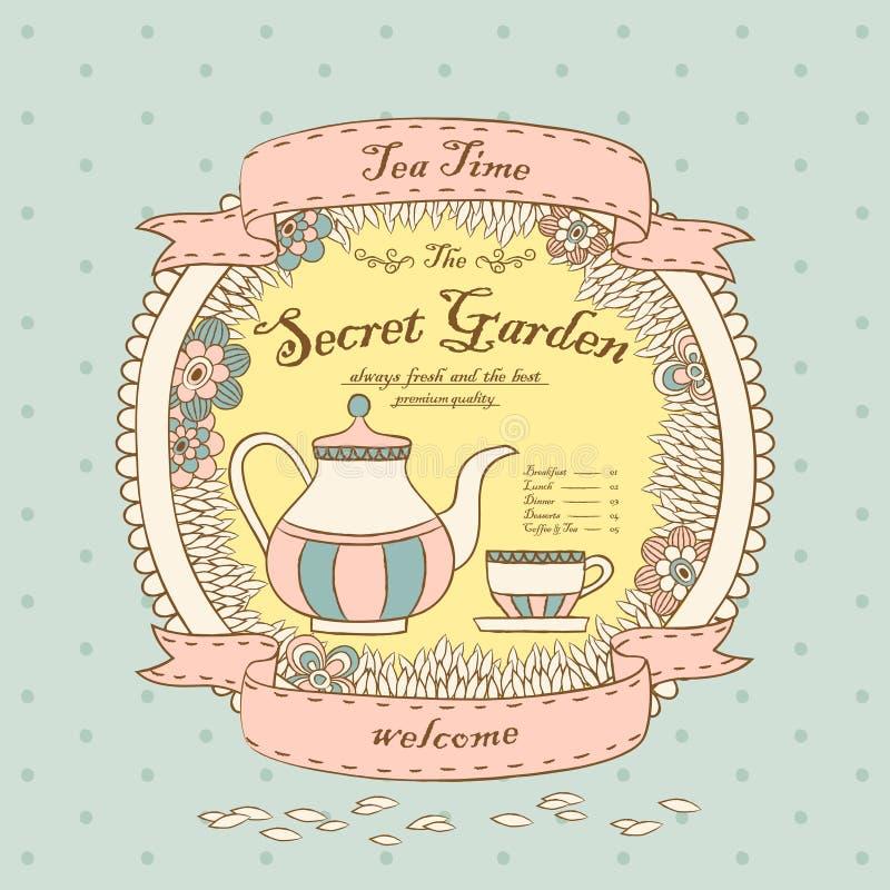 Het menu van de koffiewinkel royalty-vrije illustratie
