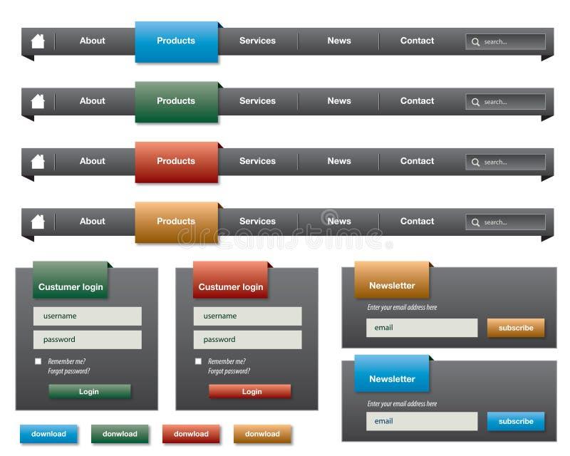 Het menu van de navigatie vector illustratie