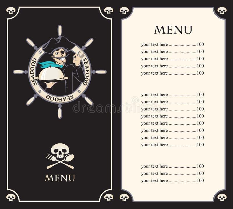 Het menu van de piraat vector illustratie