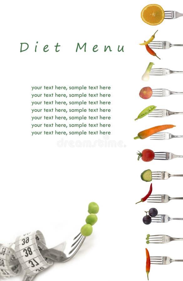 Het menu van het dieet stock illustratie