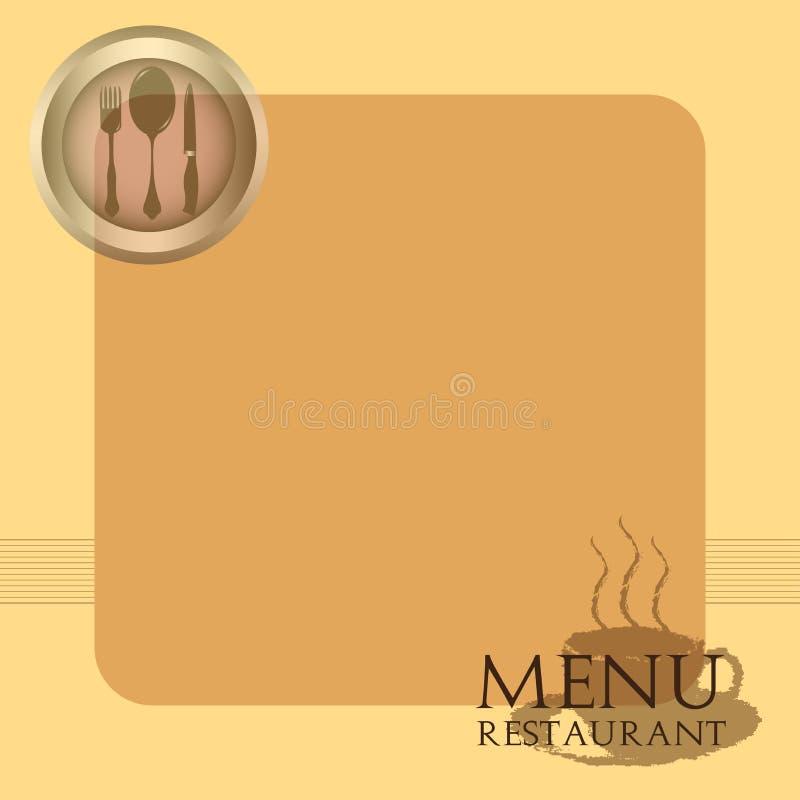 Het menu van het restaurant royalty-vrije illustratie