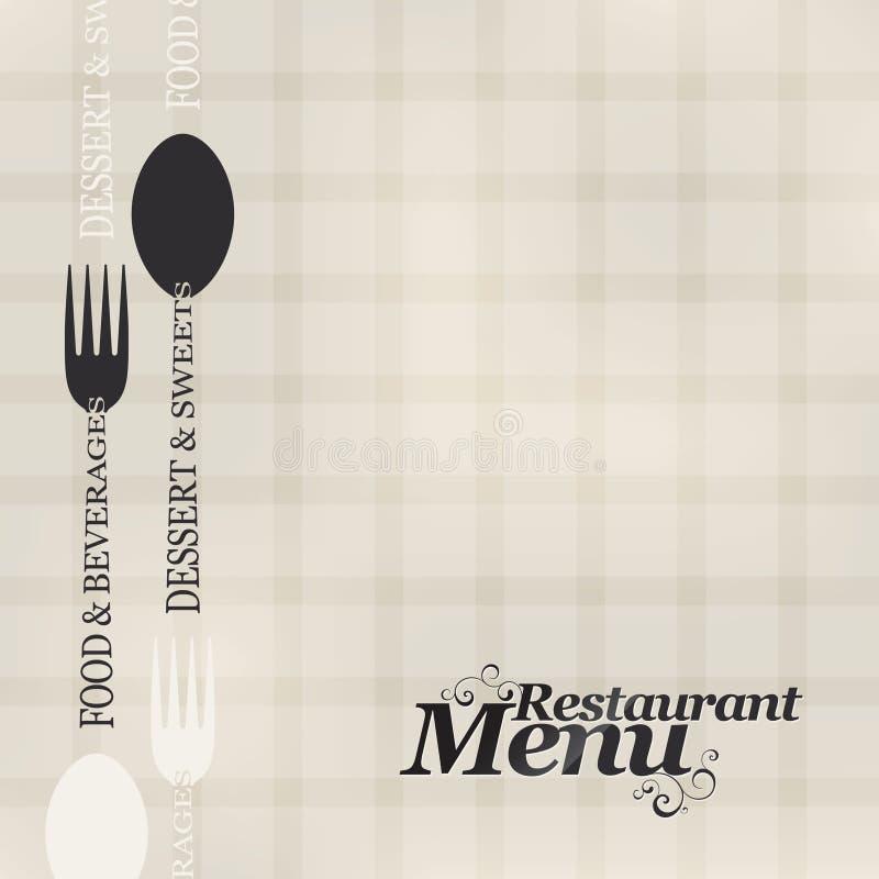 Het menu van het restaurant stock illustratie