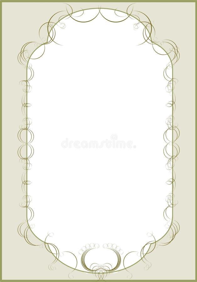 Het menu van het restaurant, zwarte vector, stock illustratie