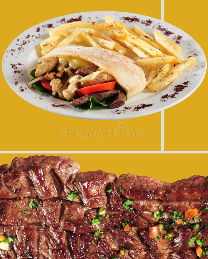 Het menu van het voedsel. stock afbeelding