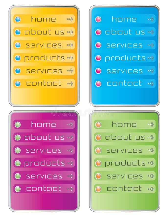 Het menu van het Web vector illustratie