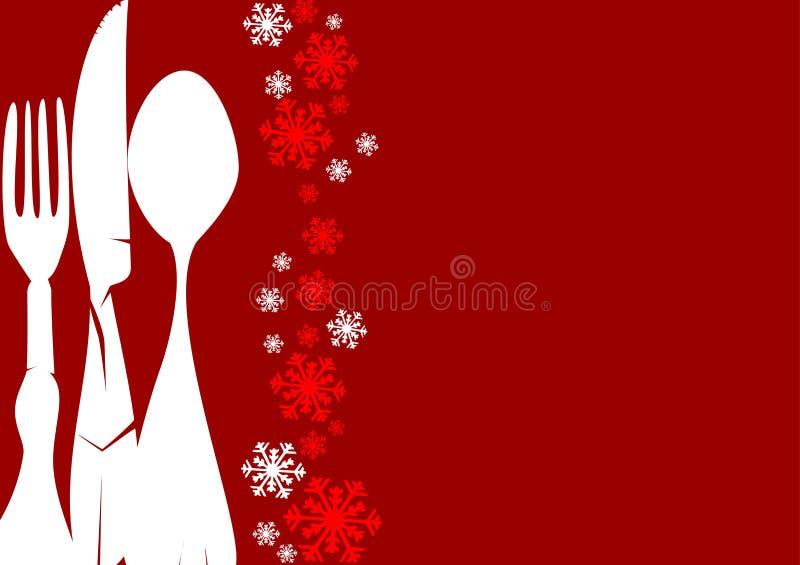 Het Menu van Kerstmis royalty-vrije illustratie