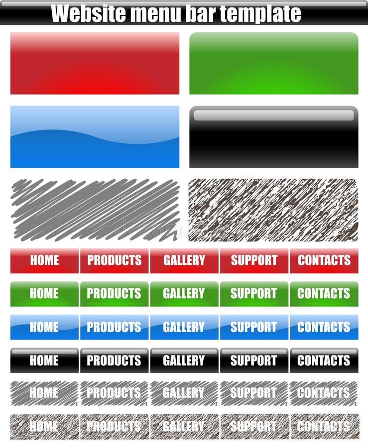Het menuknopen van de website royalty-vrije illustratie
