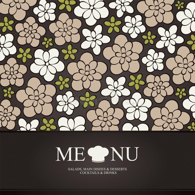 Het menuontwerp van het restaurant stock illustratie