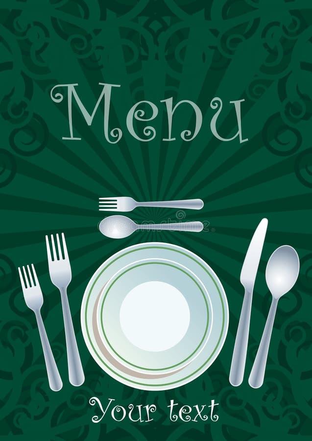 Het menuontwerp van het restaurant royalty-vrije illustratie