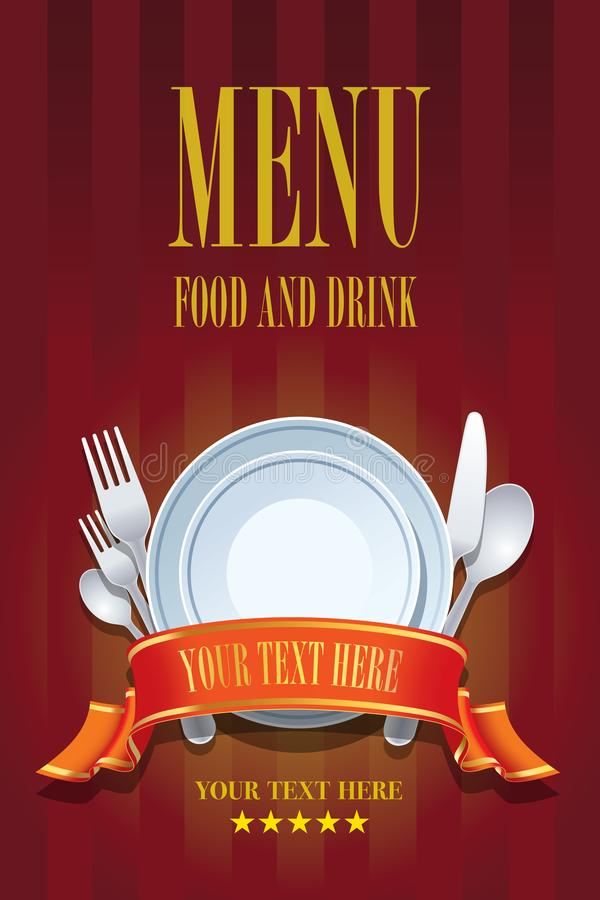 Het menuontwerp van het restaurant vector illustratie